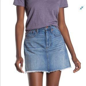 Madewell McCarren Denim Mini Skirt